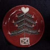 Christmas Tree plate (red)
