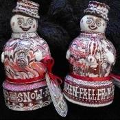 snowman and snowwomen