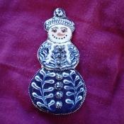 Snowman Blue