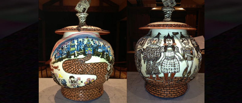 Oz Collection: decorative jar (front & back): Click to view collection