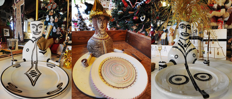 Irma Starr's place settings are displayed in the gift shop at the Nelson-Atkins Museum of Art.